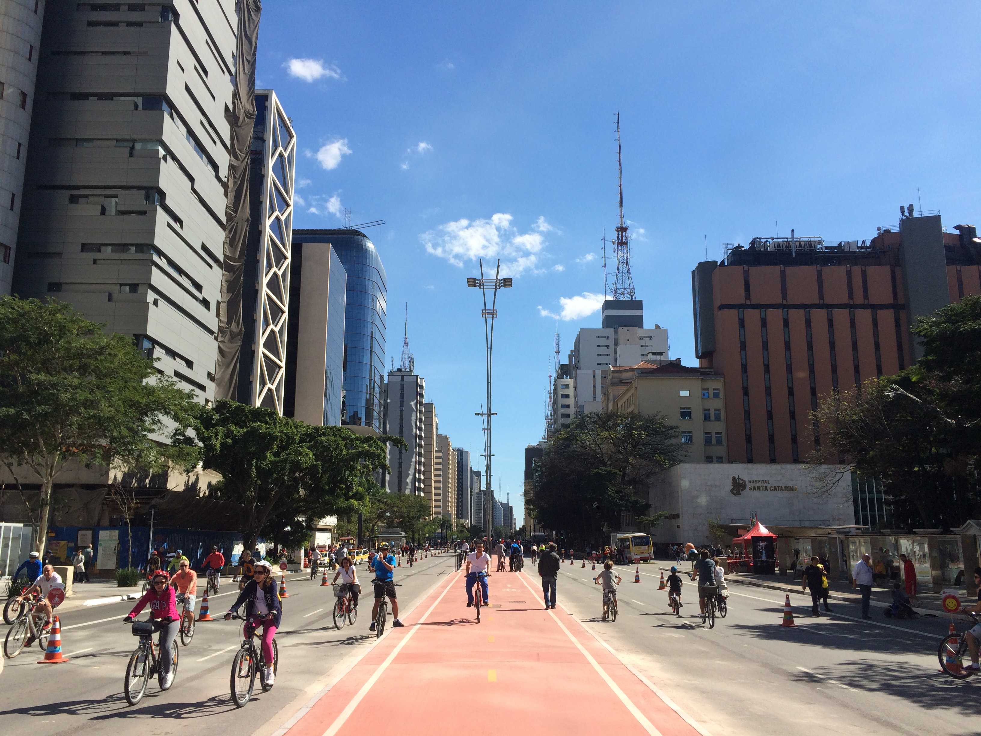 Opening of Paulista Avenue's bike lane