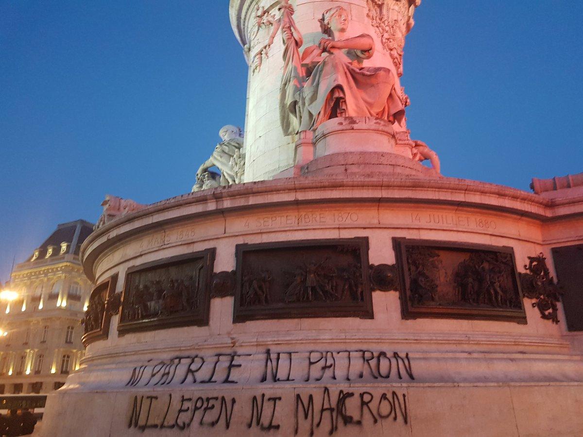 Patrie Patron, Place de la République (paris-luttes.info)