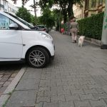 Bicycle path on the sidewalk of Mendelssohnstrasse (own picture)