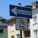 Allowed cycling on einbahnstrassen (own picture)