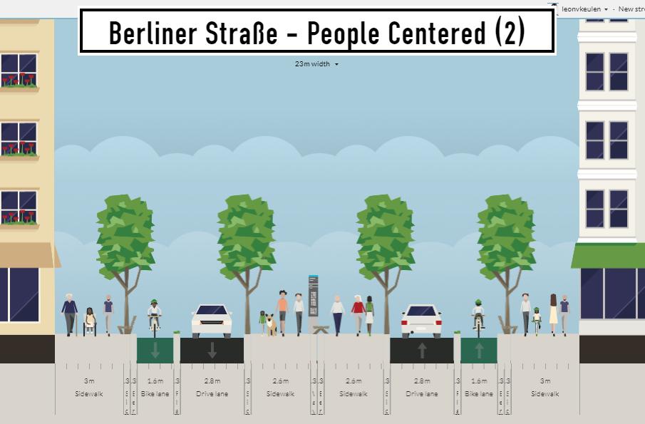 Berliner Straße - Scenario #2