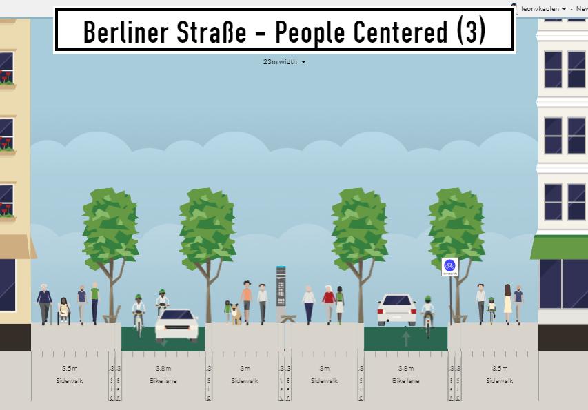 Berliner Straße - Scenario #3