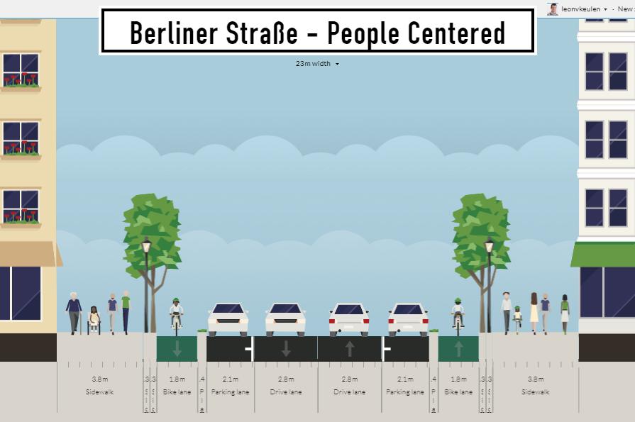 Berliner Straße - Scenario #1