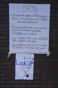 Factsheet to make passersby aware of surveillance cameras present at Bos en Lommerplein (Photo: Martijn Gerritsen)